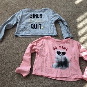Two toddler girl tops